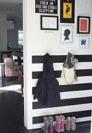 stripes below the chair rail