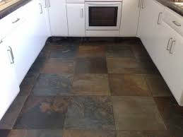 Wonderful Slate Floor Tiles Kitchen Of For Intended Models Design