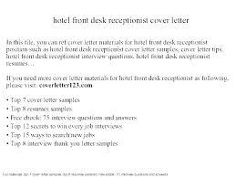 Cover Letter Sample For Receptionist Bezholesterol