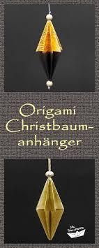 Origami Anhänger Falten Christbaumschmuck Basteln Mit