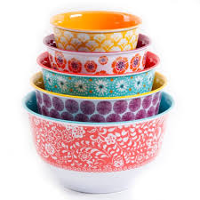 the pioneer woman country garden nesting mixing bowl set 10 piece multiple patterns com