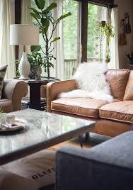 west elm hamilton leather sofa tan