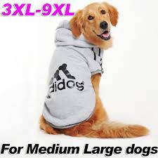 Big Dog Clothes Adidog Sport Hoodie Medium Large Dog Costume