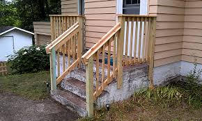 railings for outdoor stairs newsonairorg wooden porch step railing designs