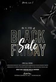 Black Flyer Backgrounds Black Friday Event Free Flyer Template Freebie Freepsdflyer