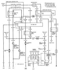 honda prelude air conditioner electrical circuit and schematics