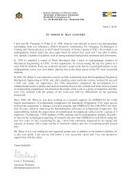 Letter Of Recommendation Mechanical Engineering Recommendation Prof Cesar Deschamps