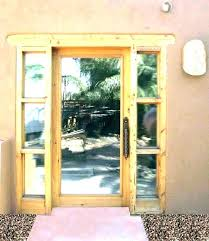 front entry doors glass stained used for with entrance country french exterior wood door wooden and sideli