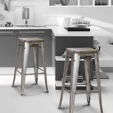 metal bar stools with wood seat. Furniture: Metal Bar Stools With Wood Seat Brilliant Amazing Stool Back Rest And Vintage On 1