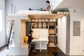 Loft Bed Tricked Out With Transforming Furniture. Studio-Apartment -Loft-Living