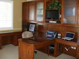 two desk home office. Furniture Two Person Desk Home Office With Glass Top Table Design Inside