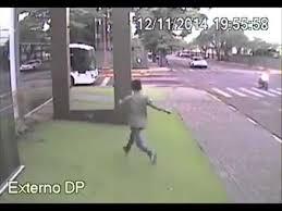man runs into glass