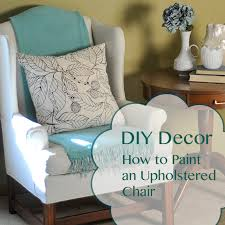 painting fabric furnitureBefore and After How to Paint an Upholstered Chair