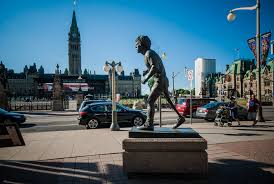 public art statue of terry fox in ottawa view in photographs terry fox sculpture