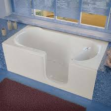 venzi 30x60 right drain white air jetted step in walk in bathtub by meditub