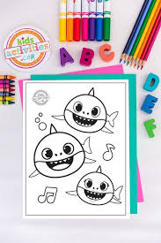 Jelly and sharks (listen and match) grade/level: Baby Shark Coloring Pages Free Download For Kids