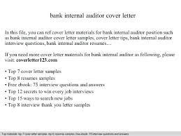 Internal Audit Letter Bank Internal Auditor Cover Letter In This