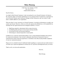 Construction Project Management Cover Letter Examples Cover