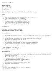 Kitchen Resume Skills Tfei Info