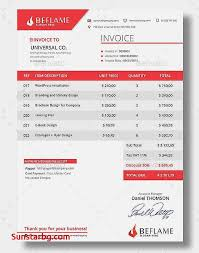 Best Invoice Template New Impressive Invoice Template For Best Enchanting New Best Impressive Pics