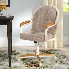gentry mid back dining chair with arms