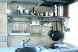 kitchen metal shelves post on wheels home depot