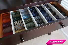 tie drawer how to organize your closet in 5 steps