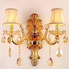sconce luxury 2 light k9 crystal fabric shade decorative wall sconces decorative wall sconces canada