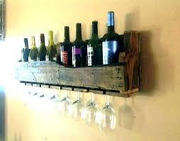 wall wine shelf floating glass rack image of white