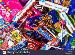 Chocolates Wrappers Assorted Candy Chocolate Bars And Sweets In Brightly
