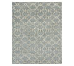 scroll tile rug porcelain blue