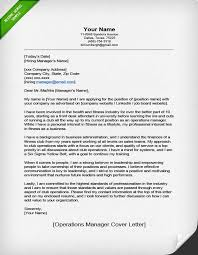 Resume Letter Inspiration Operations Manager Cover Letter Sample Resume Genius