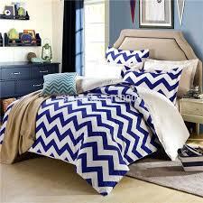 chevron bedding set queen find more bedding sets information about blue white chevron zigzag duvet cover set 4 pieces bedding set queen cotton solid color
