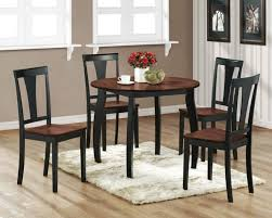 furniture decorative black round kitchen tables 40 small dining chairs wood table e set good looking