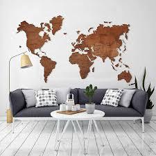wooden world map world map wall art