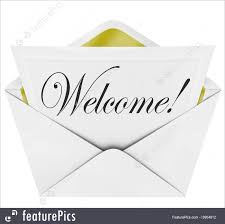 welcome cursive word invitation envelope card stock illustration welcome cursive word invitation envelope card
