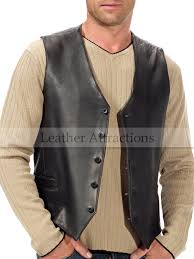 men classic cow leather vest 1 jpg