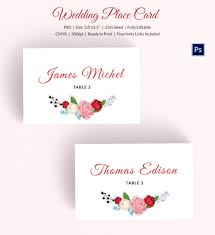 Template For Place Cards Free 25 Wedding Place Card Templates Free Premium Templates