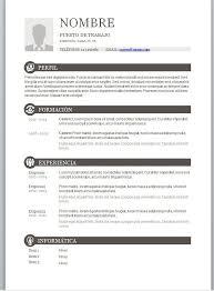 Modelos De Curriculum Vitae En Word Para Completar Profesin Modelos