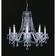crystorama lighting group traditional crystal polished chrome eight light crystal chandelier hover to zoom