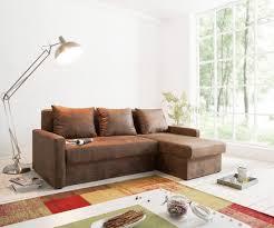Delife Couch Avondi Braun 225x145 Antik Optik Schlaffunktion Ottomane Variabel