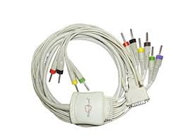 <b>10 Lead ECG</b> Cable Compatible with <b>schiller</b> 4 mm 15 pin banana ...