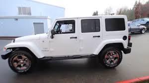 jeep wrangler white sahara. Delighful Jeep 2016 Jeep Wrangler Unlimited Sahara  Bright White Clearcoat GL150576  Redmond Seattle  YouTube Inside J
