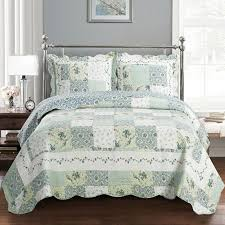 Quilts + Coverlets - Where to Buy Quilts + Coverlets at Filene's ... & Egyptian Bedding Brea Oversize Luxurious Microfiber Reversible Quilt  Coverlet Bedspread Set with Matching Shams Adamdwight.com