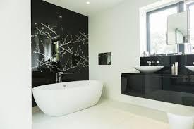 This bathroom brings two grey shades. 15 Bathroom Wall Decor Ideas