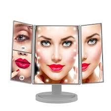 makeup mirror led vanity mirror with 21 led lights 3x 2x magnifying tri