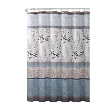 Gray and beige curtains Grommet Vcny Home Ashley Light Blue Beige Grey Canvas Fabric Shower Curtain Contemporary Floral Bordered Damask Amazoncom Beigegrey Curtains Amazoncom