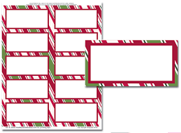 Avery Template 5163 Holiday Stripes Mailing Labels