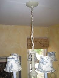 make your own chandelier chain cover