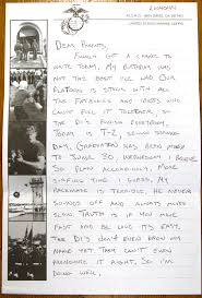 former marine sgt mark perna s first letter home from marine boot c